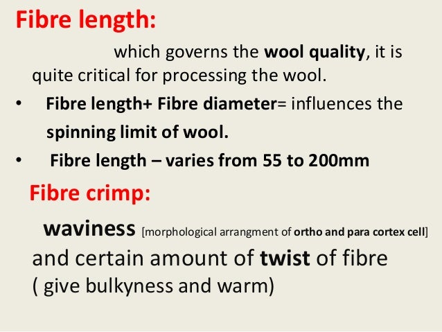 relationship between wool fineness and crimp frequency