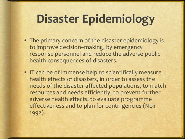 Managing Health Related Problems in Disasters Effectively ...