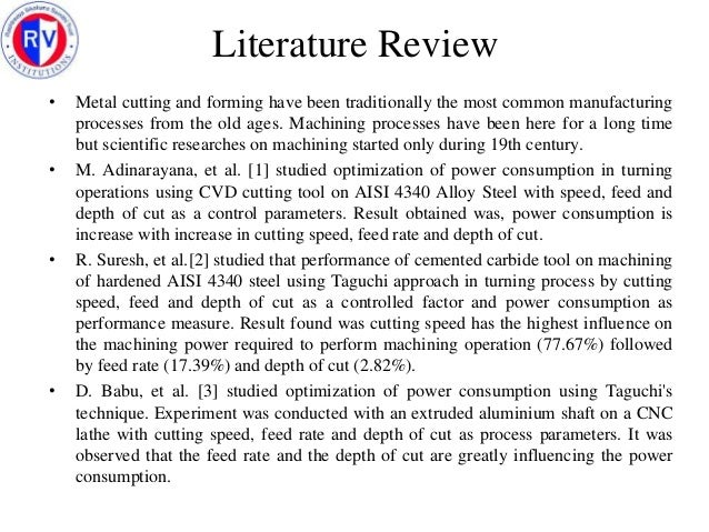 literature review for science experiment