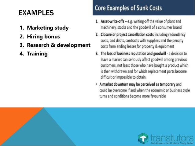 sunk costs You've probably fallen victim to the sunk cost fallacy at some point we explain what sunk costs are so you can avoid them.