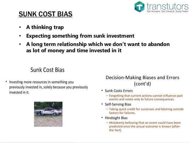 sunk cost accounting