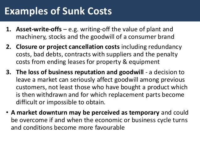 explain sunk cost