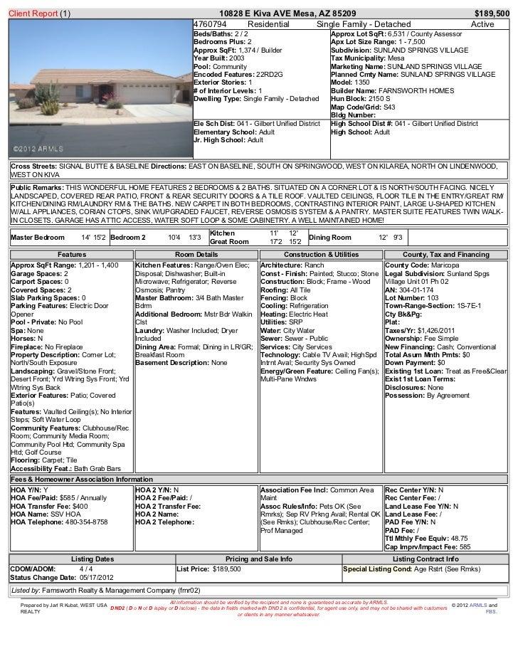 Client Report (1)                                                                10828 E Kiva AVE Mesa, AZ 85209          ...