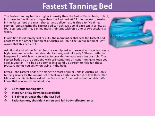 ... Bed  High Pressure Facial Lamps; 4. Fastest Tanning ...