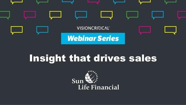 Webinar Series Insight that drives sales Webinar Series