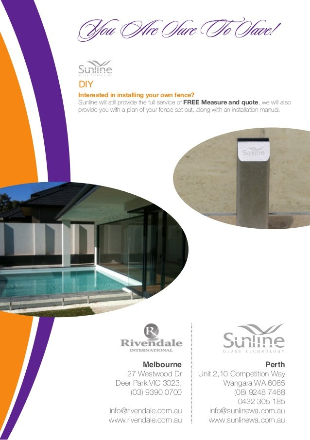 Swimming Pool Fencing Melbourne Sunline Glass Technology