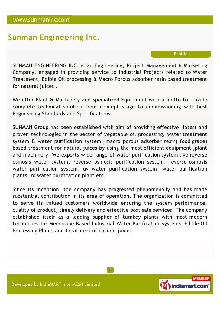 Sunman Engineering Inc., Faridabad, Ozone Systems Slide 2