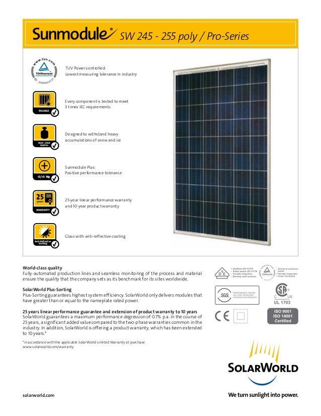 solarworld sw255 poly. Black Bedroom Furniture Sets. Home Design Ideas