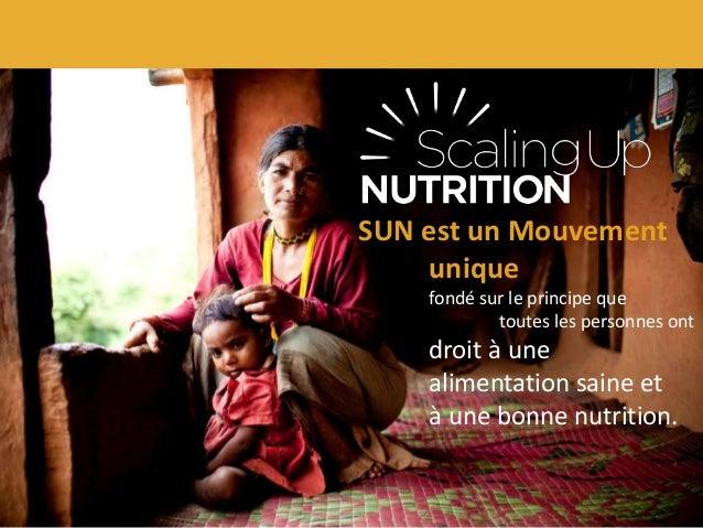 SUN est un Mouvement unique fondé sur le principe que toutes les personnes ont  droit à une alimentation saine et à une bo...