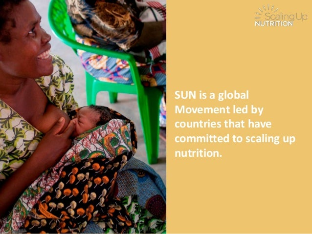 SUN is a globalMovement led bycountries that havecommitted to scaling upnutrition.