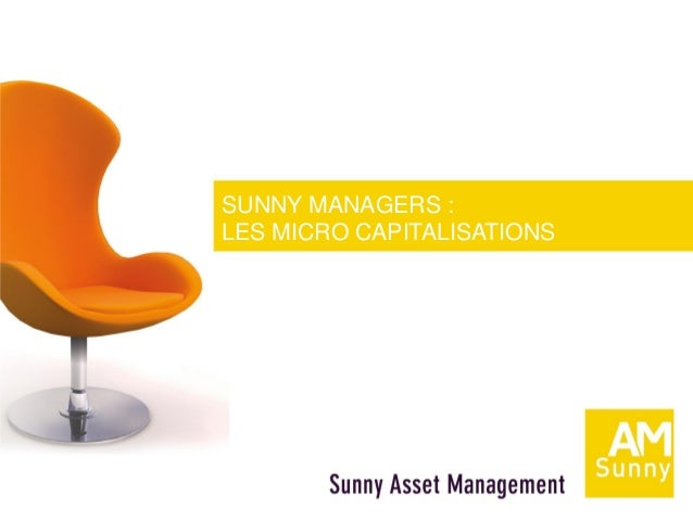 SUNNY MANAGERS :LES MICRO CAPITALISATIONS