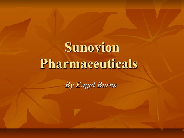 SunovionPharmaceuticals   By Engel Burns