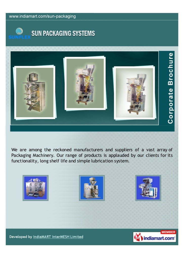 We are among the reckoned manufacturers and suppliers of a vast array ofPackaging Machinery. Our range of products is appl...