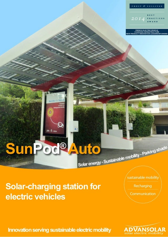 Solarenergy-Sustainablemobility-Parkingshade Solar-charging station for electric vehicles Innovationservingsustainableelec...