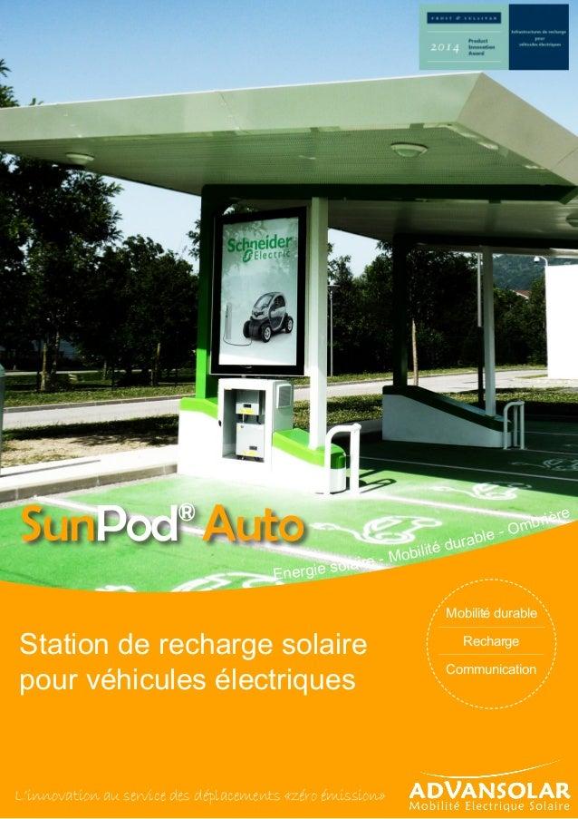 Energie solaire - Mobilité durable - Ombrière Station de recharge solaire pour véhicules électriques L'innovation au servi...