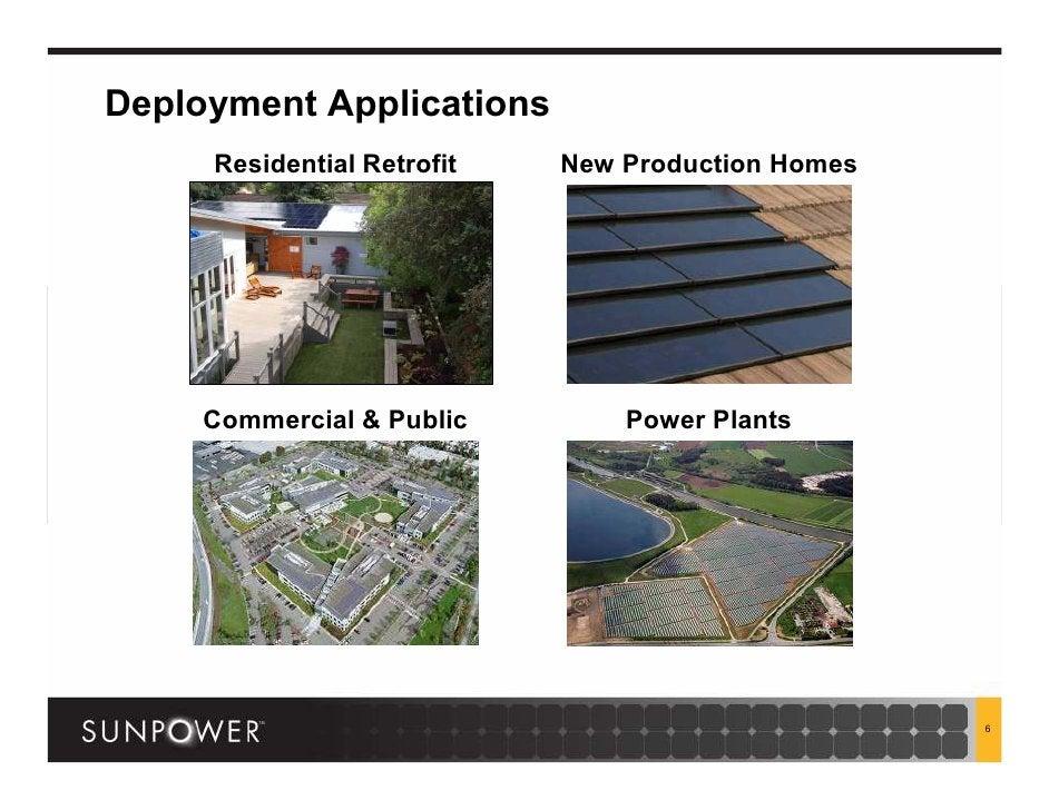 Deployment Applications      Residential Retrofit   New Production Homes          Commercial & Public        Power Plants ...