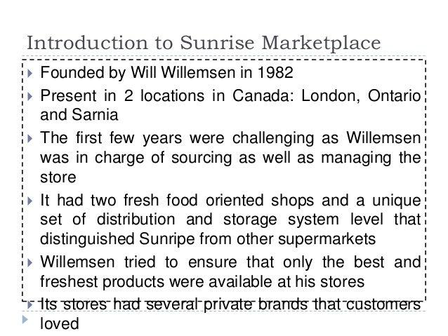 Sunripe Marketplace: A Private Label Strategy Slide 2