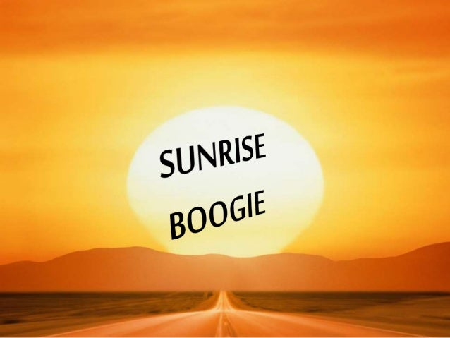 MUSIC; SUNRISE BOOGIE by FRANKIE CARLE