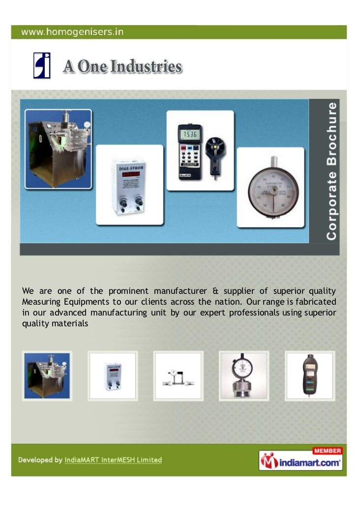 We are one of the prominent manufacturer & supplier of superior qualityMeasuring Equipments to our clients across the nati...