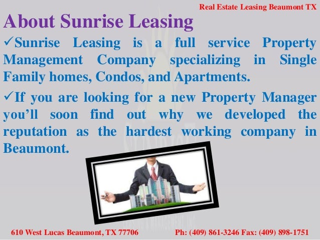 Real Estate Property Management Beaumont