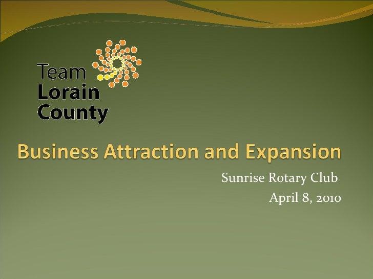 Sunrise Rotary Club  April 8, 2010
