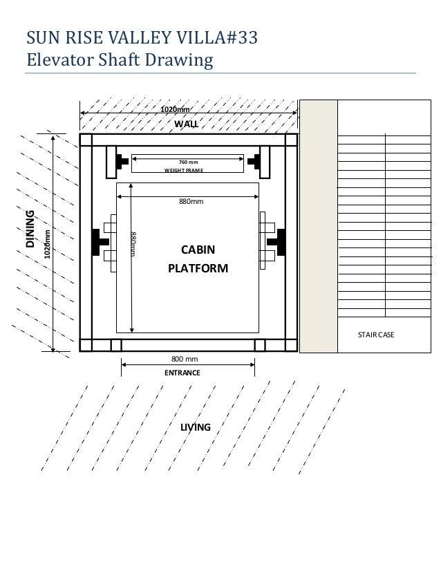 Lift elevator design drawings for Elevator plan drawing
