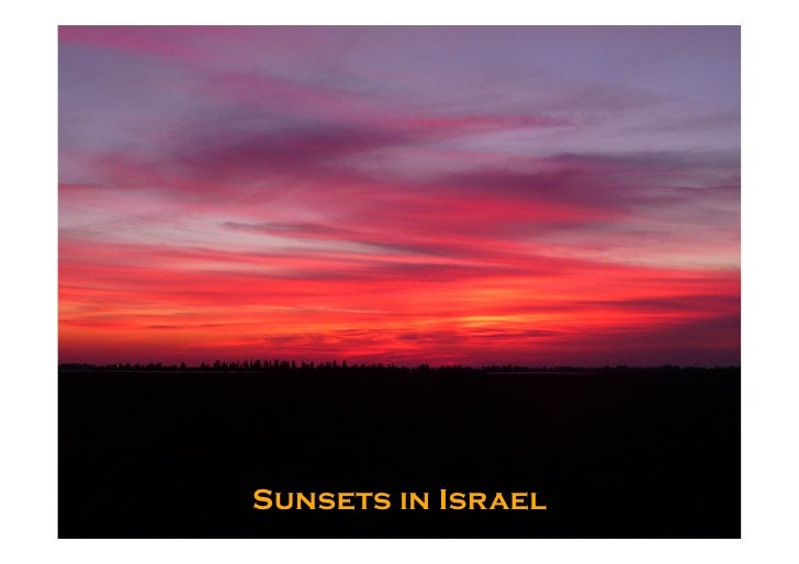 Sunsets in Israel