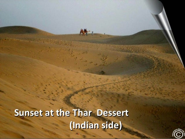 Sunset at the Thar Dessert (Indian side)
