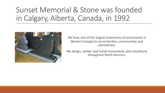 Sunset memorial & stone Slide 2