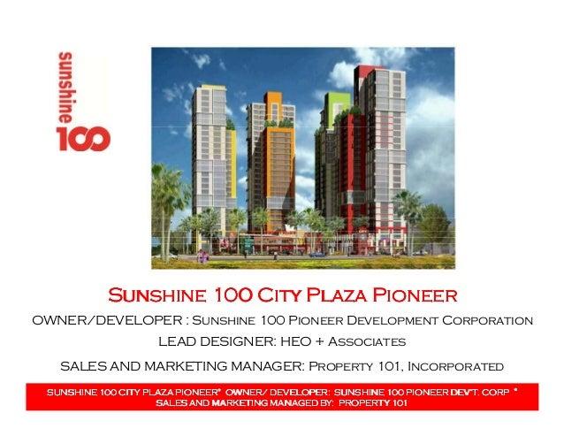 Sunshine 100 City Plaza PioneerSunshine 100 City Plaza PioneerSunshine 100 City Plaza PioneerSunshine 100 City Plaza Pione...