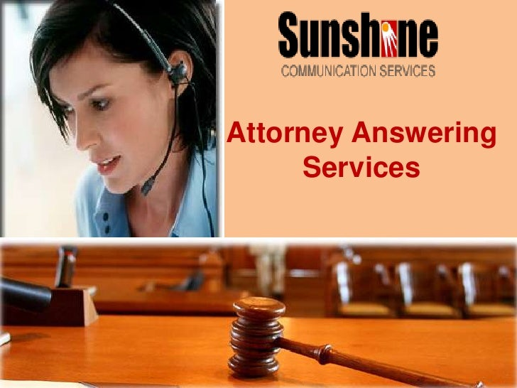 Attorney Answering Services<br />