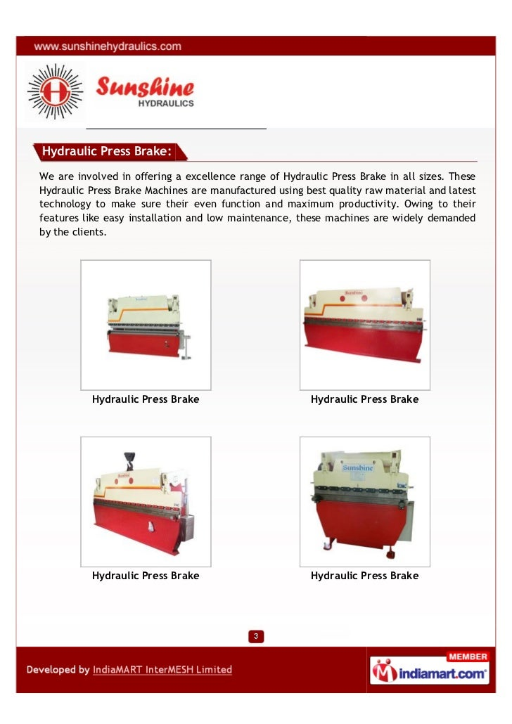 Sun Shine Hydraulics, Ahmedabad, Duty Machines Slide 3