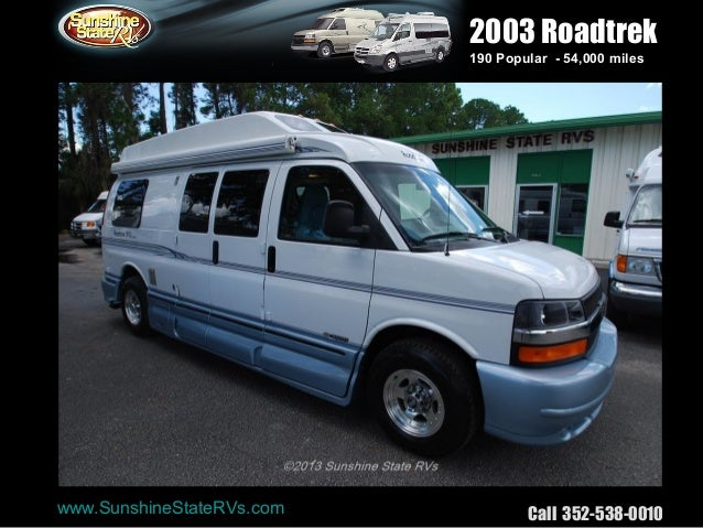 Sunshinestatervs Used Roadtrek 190 Popular Class B Rv