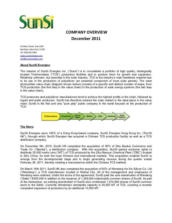 SSIE Executive Summary 12.12.2011