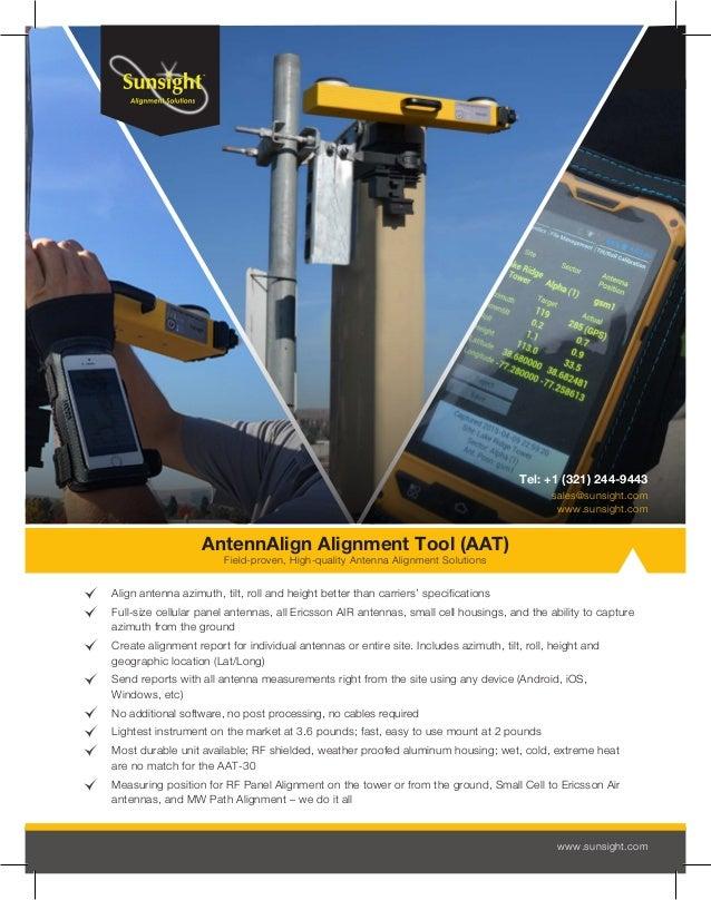 Sunsight AAT 30 Datasheet - Antenna Alignment Tool