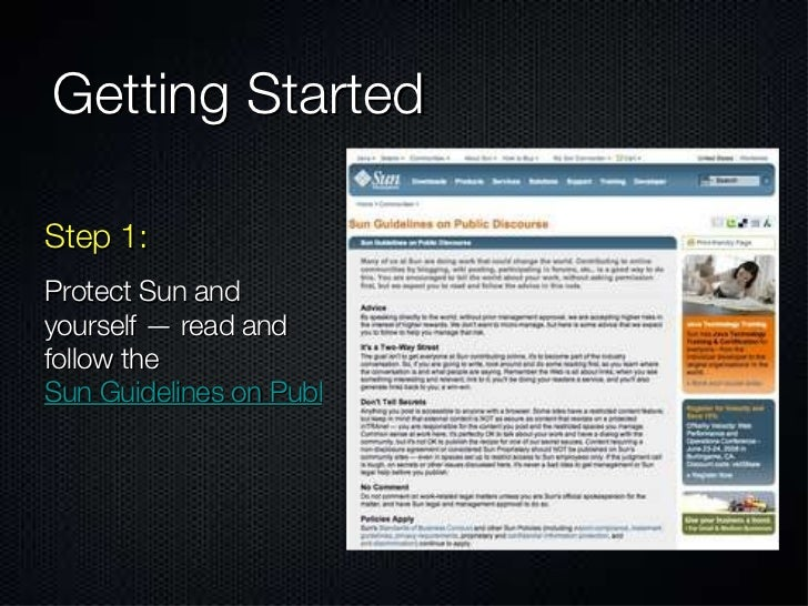 Getting Started Step 1: Protect Sun and yourself — read and follow the  Sun Guidelines on Public Discourse
