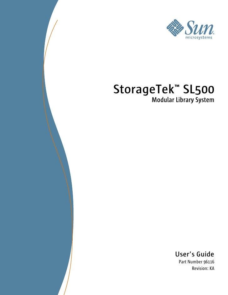 Sun Storage Sl 500