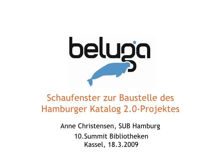 Schaufenster zur Baustelle des Hamburger Katalog 2.0-Projektes Anne Christensen, SUB Hamburg  10.Summit Bibliotheken Kasse...