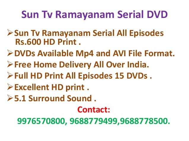 Sun tv ramayanam Download All Episodes
