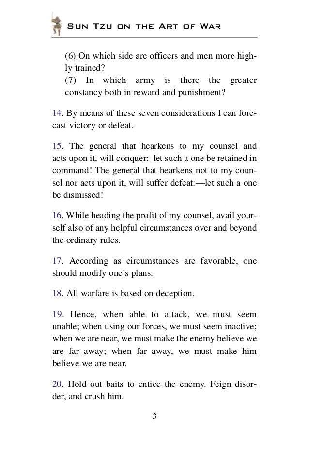 art of war tzu pdf