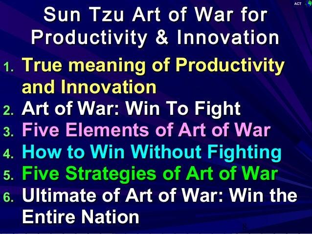 Sun Tzu Art Of War For Productivity And Innovation