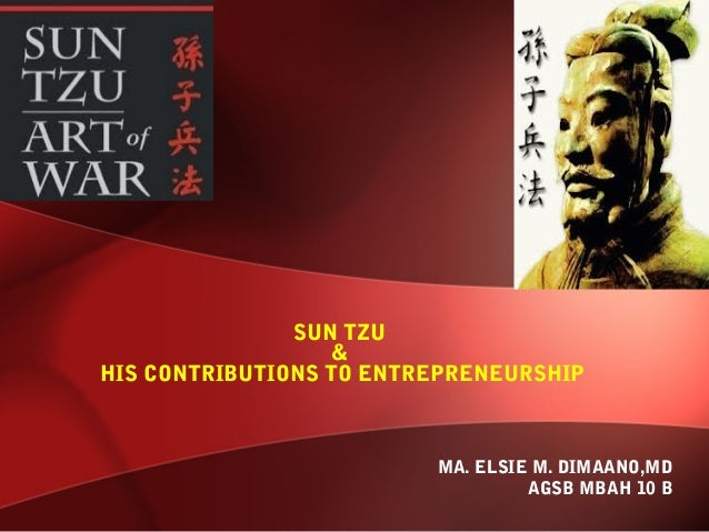 SUN TZU                   &HIS CONTRIBUTIONS TO ENTREPRENEURSHIP                         MA. ELSIE M. DIMAANO,MD          ...