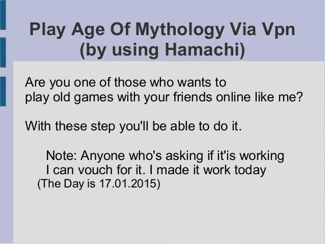 How to play Age Of Mythology Multiplayer Via Hamachi (no Steam, no Tu…