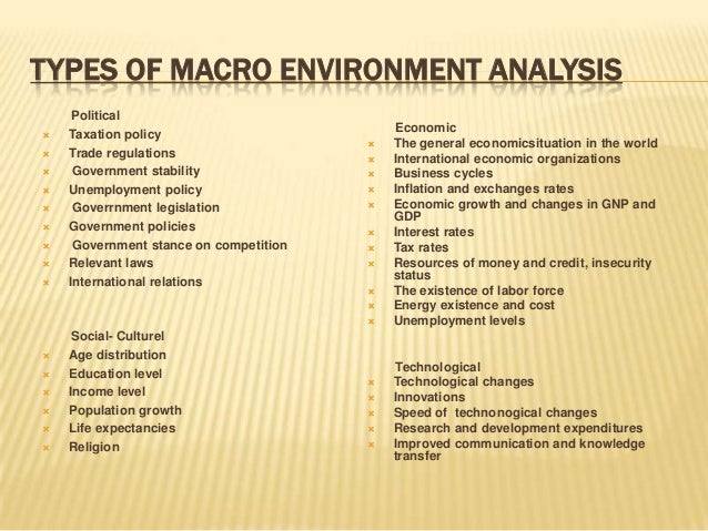 Macro environment analysis of toyota