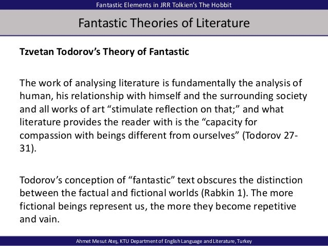 an analysis of the fantasy in jrr tolkiens the hobbit How did jrr tolkien create the lord of the rings the simple answer is that he wrote it he sat down in a chair in 1937 and spent more than a dozen years working on what remains a masterwork of fantasy literature and a genius stroke of immersive worldbuilding the more complicated answer is that in.