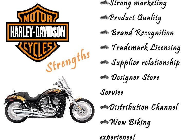 Harley davidson internal and external factor swot analysis