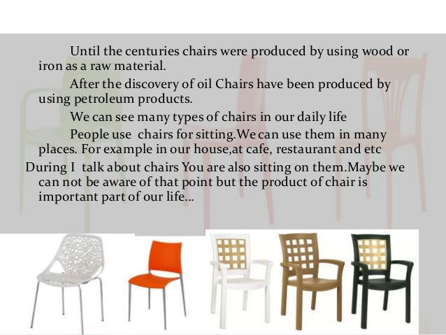 4. Until the centuries chairs ...