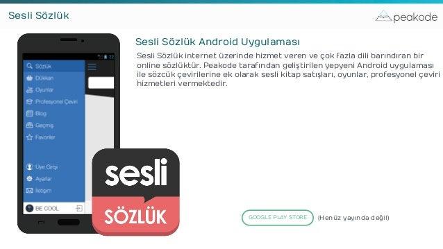 peakodeSesli Sözlük Sesli Sözlük Android Uygulaması Sesli Sözlük internet üzerinde hizmet veren ve çok fazla dili barındır...