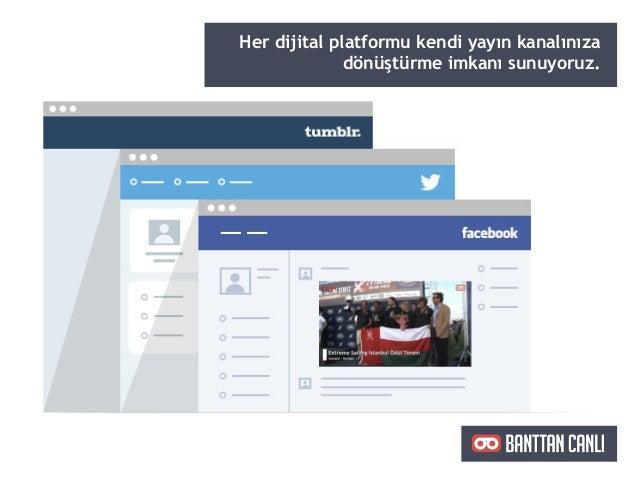 Her dijital platformu kendi yayın kanalınıza dönüştürme imkanı sunuyoruz.