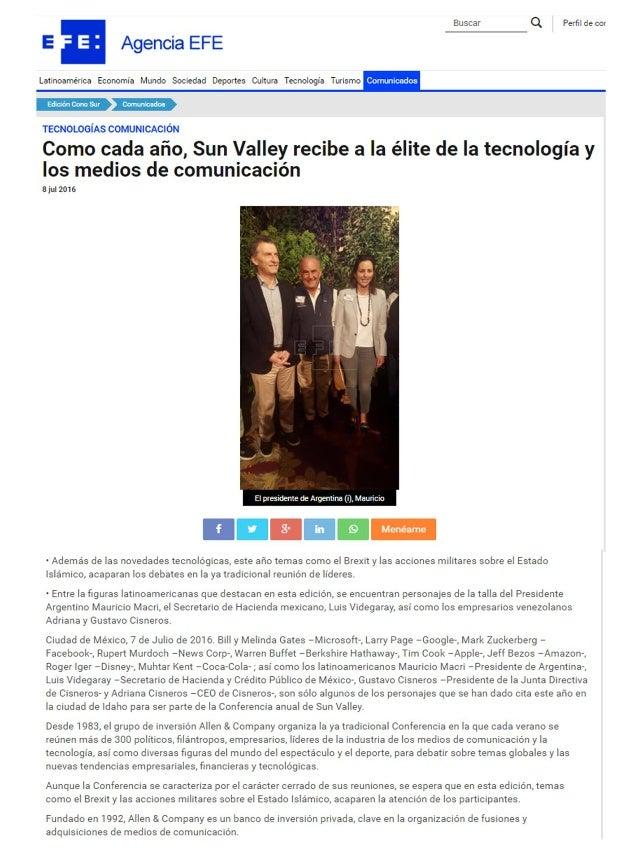 Como cada año, Sun Valley recibe a la élite de la tecnología y los medios de comunicación